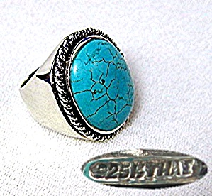 Sterling Silver Turquoise Ring Ht Thailand