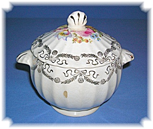 VINTAGE LIMOGES CHINA SUGAR BOWL WITH LID.... (Image1)