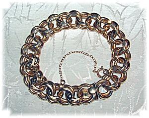 12K Gold Fill 8 Inch Chunky Double Link Bracelet (Image1)