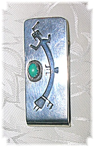 Sterling Silver And Turquoise Sadie Sam Money Clip