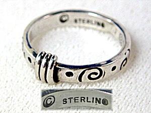 Sterling Silver FARELLA Designer Band Ring (Image1)