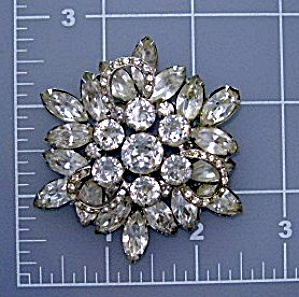 WEISS Crystal Flower Brooch 50s USA (Image1)