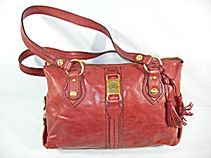Bag Purse The Sak Satchel Red Leather