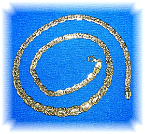 14K Yellow Gold Graduated Link Necklace (Image1)