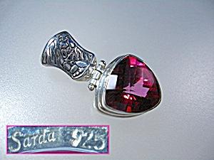 Sterling Silver Mystic Peony Pink Topaz Pendant  Sarda (Image1)