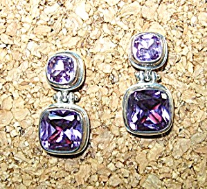 Sterling Silver 12ct Each Pierced  Lab Alexandrite Earr (Image1)