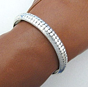 John Hardy Look Sterling Silver Bangle Bracelet (Image1)