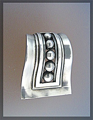 MARGOT VAN VOORHIS Taxco Mexico Sterling Silver Pin (Image1)