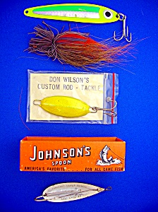 Fishing Lures Lot of 4, Johnson's spoon, others (Image1)