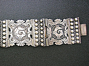 Sterling Silver Eagle 2 Mexico Brp Signed 37 Inch Belt