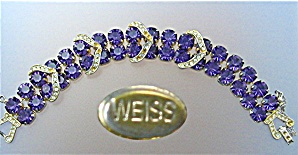 WEISS Amethyst and Clear Crystal Bracelet. (Image1)