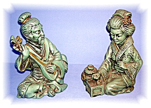 Pair Of Oriental Figures From The 60's