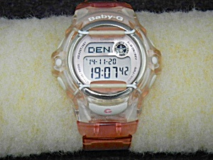 Baby-g Watch, Women's Clear Resin Strap Bg169r-7b
