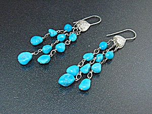 Sleeping Beauty Turquoise Sterling Silver Earrings (Image1)