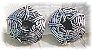 STERLING SILVER CLIP EARRINGS - SIGNED..... (Image1)