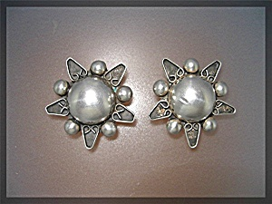 Earrings Sterling Silver Clip Mexico TR-156 (Image1)