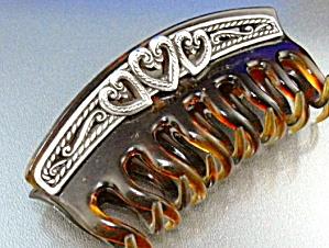 Hair Clip Scrunchie Brighton Silver (Image1)