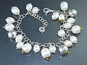 Silpada Sterling Silver Freshwater Pearls Bracelet (Image1)