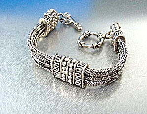 Sterling Silver Bracelet Indonesia Toggle Clasp (Image1)