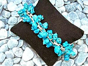 Charles Albert Turquoise Sterling Silver Chachki Bracel (Image1)