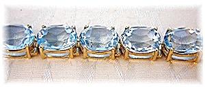 Bracelet 10K Gold Blue Topaz 42ct  (Image1)