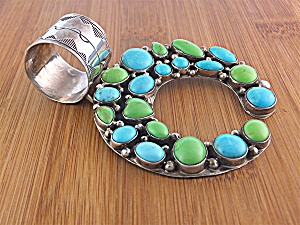 ROCKI GORMAN Sterling Silver Turquoise Gaspeite (Image1)