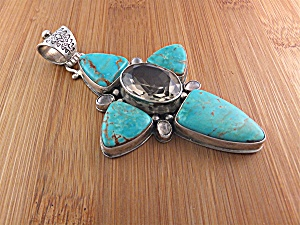 David Troutman & Gundi Sterling Silver Turquoise Citrin