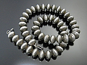 Native American Sterling Silver Beads 72 Grams (Image1)