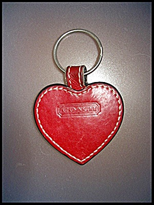 Coach Leather Red heart Key Fob (Image1)
