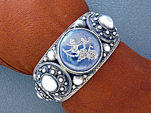 Sterling Silver SIAM Cuff Cameo bracelet (Image1)