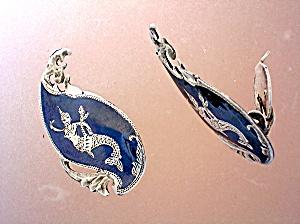 Sterling Silver Siam Dancers Vintage  Clip Earrings (Image1)