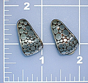 Sterling Silver Pierced Earrings Signed JCD (Image1)