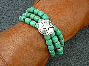 Paige Wallace Sterling Silver  Kingman Turquoise Bracel (Image1)