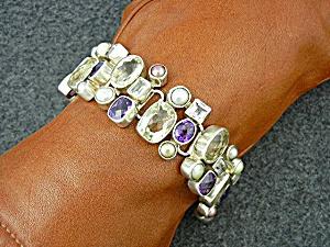 Starborn Sterling Silver Citrine Amethyst Topaz Bracel (Image1)
