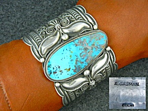 Navajo Pilot Mountain Turquoise Sterling Silver Cuff