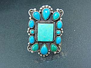 Dan Dodson Sterling Silver Kingman Turquoise Ring (Image1)