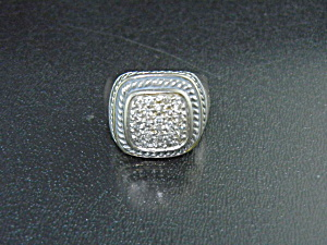 David Yurman Diamond Sterling Silver Ring