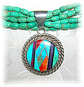 Necklace Turquoise Sterling Silver P Sanchez
