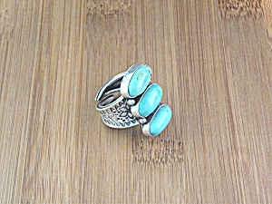 David Troutman & Gundi Sterling Silver Kingman Turquois