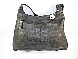 Bag Purse Thee Sak Black Pebbled Leather Hobo Shoulder
