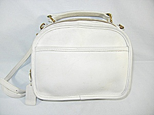 Vintage Coach white leather handbag (Image1)