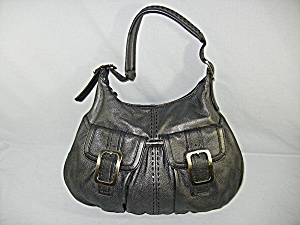 Bag Cole Hahn Grey Leather Silvr Buckles Hobo