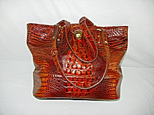 Bag Brahmin Pecan Leather Tote With Dust Bag
