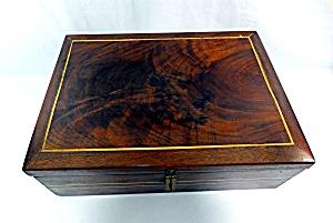Vintage Hardwood Wooden Box  (Image1)