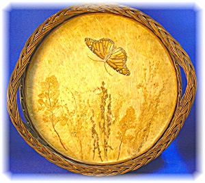 VAN BRIGGLE STYLE BUTTERFLY SERVING TRAY (Image1)