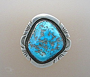 Sterling Silver Turquoise Pendant Jon Mccray