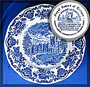 Wedgwood Blue ROYAL HOMES OF BRITAIN Dinner Plate (Image1)