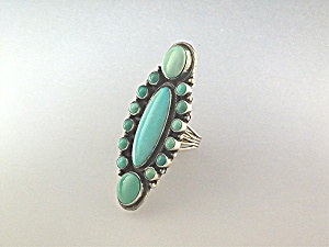 Carico Lake Turquoise Sterling Silver Ring Geraldine Ja (Image1)