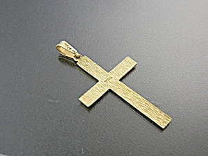Pendant 14K Gold Cross  2 1/8 inches (Image1)