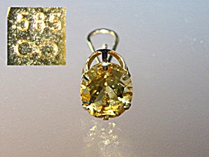 Earrings 14K Gold French Back 10ct Citrine  (Image1)